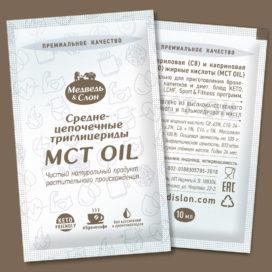 MCT oil в саше по 10мл Медведь и Слон