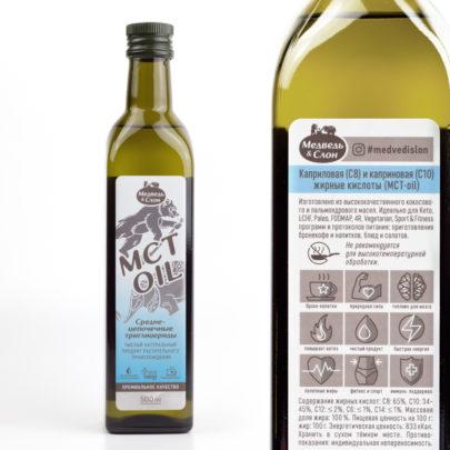 MCT oil 500мл (в стекле) Медведь и Слон
